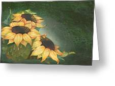 Sunflowers Greeting Card by Doreta Y Boyd