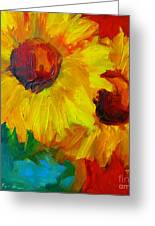 Sunflowers Girasoles Still Life Greeting Card by Patricia Awapara