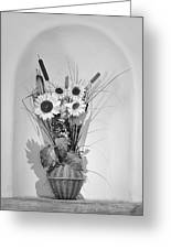 Sunflowers In A Basket Greeting Card by Christine Till