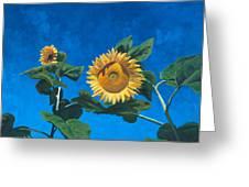 Sunflowers Greeting Card by Marco Busoni