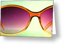Sunglass - 5D20678 - v3 Greeting Card by Wingsdomain Art and Photography