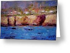 Sunlight On The Cliffs Greeting Card by R W Goetting