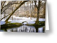 Sunny But So Cold Greeting Card by Gun Legler