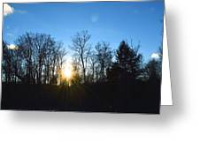 Sunny Day In January Greeting Card by Shaun Maclellan