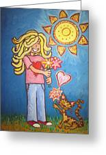 Sunny Girl Greeting Card by Cherie Sexsmith