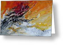 Sunrise - Abstract art Greeting Card by Ismeta Gruenwald