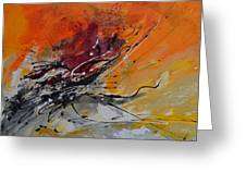 Sunrise - Abstract Greeting Card by Ismeta Gruenwald