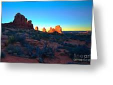 Sunrise At Arches National Park Greeting Card by Tara Turner