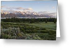 Sunrise At Grand Teton Greeting Card by Brian Harig