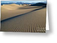 Sunrise At Mesquite Flat Sand Dunes Greeting Card by Sandra Bronstein