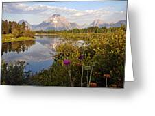 Sunrise At Oxbow Bend 5 Greeting Card by Marty Koch