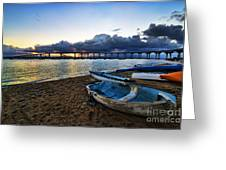 Sunrise - Coronado Bridge Greeting Card by Peter Dang