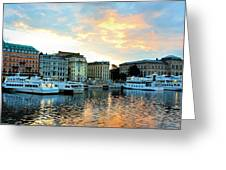 Sunrise In Stockholm Greeting Card by Jenny Hudson