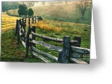 Sunrise Meadow - Blue Ridge Parkway II Greeting Card by Dan Carmichael