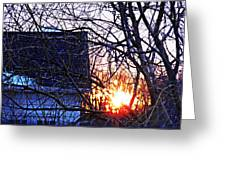 Sunrise Next Door Greeting Card by Sarah Loft