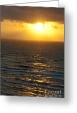 Sunrise On The Gulf Greeting Card by Barbara Shallue