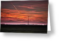 Sunrise Over Bear Mountain Greeting Card by Connie Cooper-Edwards