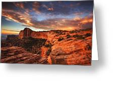 Sunrise Over Canyonlands Greeting Card by Darren  White