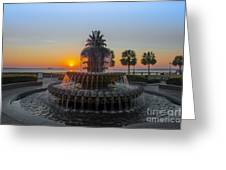 Sunrise Over Charleston Greeting Card by Dale Powell