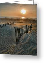 Sunrise Over Hatteras Greeting Card by Steven Ainsworth