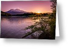 Sunrise over Lake Siskiyou and Mt Shasta Greeting Card by Scott McGuire
