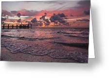 Sunrise Panoramic Greeting Card by Adam Romanowicz