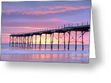 Sunrise Pier Greeting Card by Colin and Linda McKie