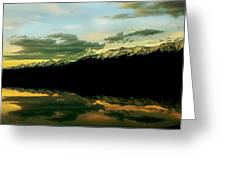 Sunset 1 Rainy Lake Greeting Card by Janie Johnson