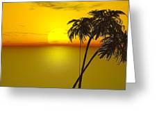 Sunset And Palms Greeting Card by John Vito Figorito