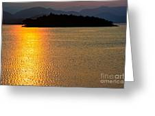 Sunset Asia  Greeting Card by Adrian Evans