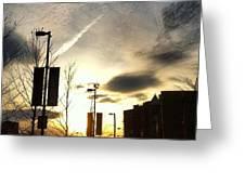 Sunset At Academic Center Greeting Card by Toni Martsoukos