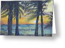 Sunset At Buho's Greeting Card by Nick Vogel