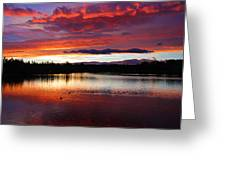 Sunset At Farewell Bend Park Greeting Card by Engin Tokaj