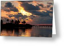 Sunset At Mitchells Keys Villas Greeting Card by Michelle Wiarda