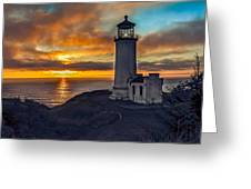 Sunset At North Head Greeting Card by Robert Bales