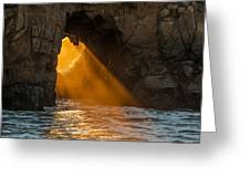 Sunset At Pfeiffer Beach Greeting Card by George Buxbaum