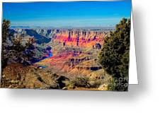 Sunset at South Rim Greeting Card by Robert Bales