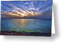 Sunset At The Cliff Beach Greeting Card by Ron Shoshani