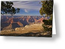 Sunset at the Grand Canyon's Hopi Point Greeting Card by Alex Cassels