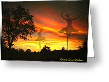 Sunset Ballerina Greeting Card by Joyce Dickens