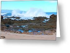 Sunset Beach Crashing Wave - Oahu Hawaii Greeting Card by Brian Harig