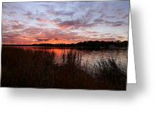 Sunset Bliss Greeting Card by Lourry Legarde