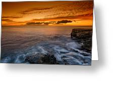 Sunset By The Cliff Greeting Card by Tin Lung Chao