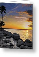 Sunset Caribe Greeting Card by Stephen Anderson