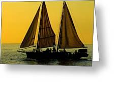 Sunset Celebration Greeting Card by Karen Wiles