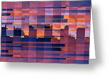 Sunset City Greeting Card by Ben and Raisa Gertsberg