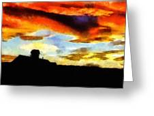 Sunset Colours Greeting Card by Ayse Deniz