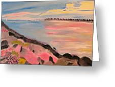 Sunset Contrasts Greeting Card by Meryl Goudey