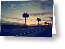 Sunset Drive Greeting Card by Laurie Search