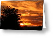 Sunset Greeting Card by Edward Hamilton